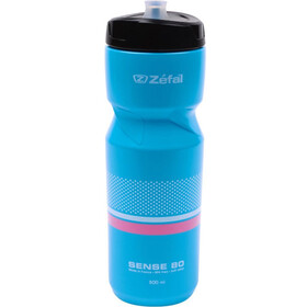 Zefal Sense Drinking Bottle with flowers, 0,8 liter, cyan